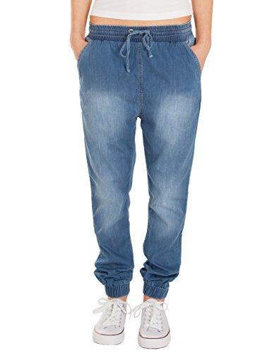 Jeans Blu Jogger Donna Caviglie Con Elasticate Fraternel qCZ4dwq