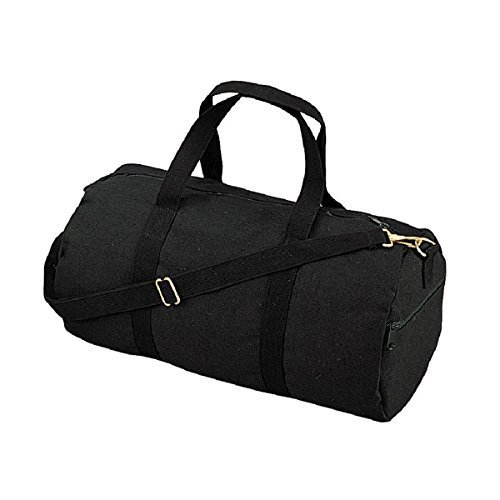 Duffle Bag - Canvas Shoulder, Black by Rothco
