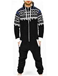 SkylineWears Men's Fashion Onesie Playsuit Jumpsuit one Piece non Footed Pajamas