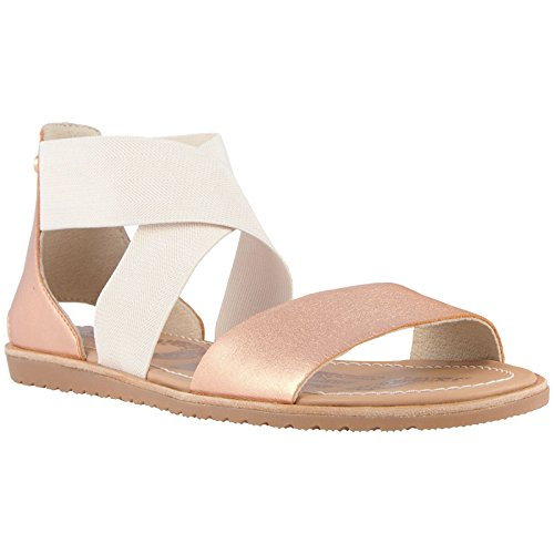 Holiday Womens Sandals (Sorel Womens Ella Sandal Cut Out Holiday Open Toe Fashion Beach Sandals - Natural - 7)