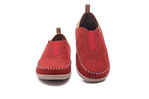 Mens Linen Walking Walking Red New New UIN UIN UIN Linen Torres Shoes Mens Torres Mens Red Shoes RwHCv4xS