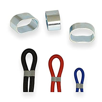 100 St/ück Seilklemmen f/ür Expanderseil 8mm und 10mm Gummiseil Seil Stahl verzinkt