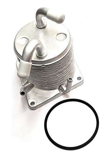 (Upgraded 4 Port CVT Transmission Oil Cooler & Oring Gasket for Nissan Rogue 2008-2013 Sentra 2007-2012 Juke 2011-2014 CVT Cooler 21606-1XF0A)