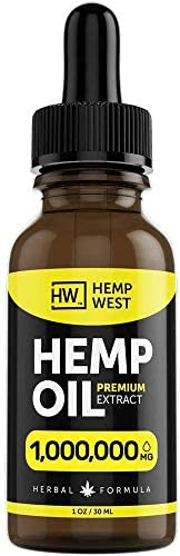 Hemp Oil for Pain, Anxiety Relief - Sleep Support - Organic Extra Strong Formula - Vegan-Friendly - Helps for Skin, Hair - Pure Extract