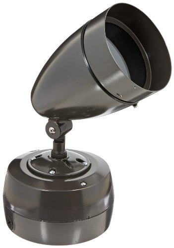 RAB Lighting HBHN70HA HB Metal Halide HID Floodlight with Hood, PAR38 MH Type, Aluminum, 70W Power, 4800 Lumens, 120V, Bronze Color