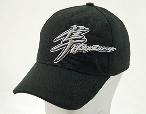 (Suzuki GSX1300R Hayabusa Kanji Embroidered Logo Snap Back Hat Black)