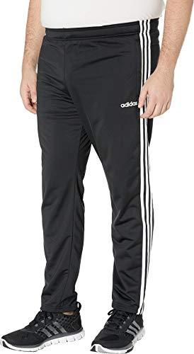 adidas Men's Big & Tall Essentials 3-Stripe Tricot Open Hem Pants Black/White XL 31 Tall by adidas (Image #1)