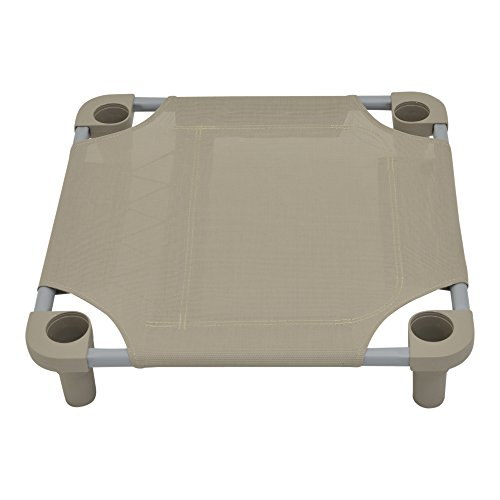 Mahar Manufacturing 22x22 Premium Pet Cot in Taupe with Taupe Legs, Unassembled from Mahar Manufacturing