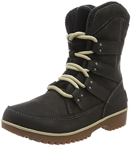 SOREL Women's Meadow Lace Premium Snow Boot, Black, 11 B US by SOREL