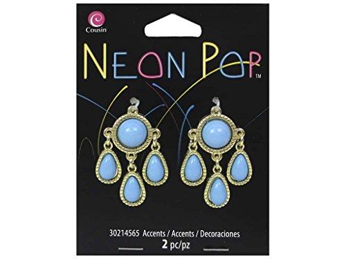 Cousin COU30214565 2 Piece Chandelier Accents Blue Neon Pop Collection