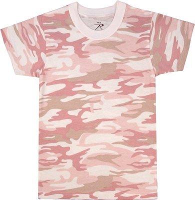 Rothco Kids T-Shirt, Baby Pink Camo, X-Small