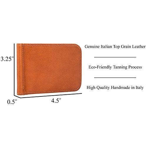 Card Clip Slot Wallet Honey Money Italian Leather Credit Perotti Tony Bifold qw8XXa