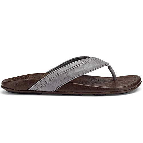 cb1203964 Galleon - Olukai Hiapo - Mens Supportive Sandal Grey Seal Brown - 11