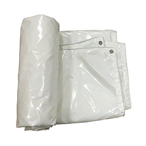 ホワイトパッド入り防水ターポリン、520g /平方メートル、0.5mm屋外用凍結防止断熱ターポリン、車の日焼け止めターポリン、両面防水 B07QMBX384  6*5m 6*5m
