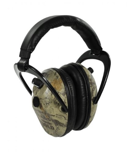 Pro Ears - Predator Gold - Hearing Protection and Amplfication - NRR 26 - Contoured Ear Muffs - Nat Gear Camo