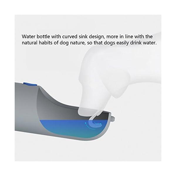 LC-dolida Dog Water Bottle for Walking Travelling, 400ml/14oz 6