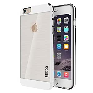 Slicoo Brushed Texture Electroplating Transparent Combination Case for iPhone 6 Plus (Silver)