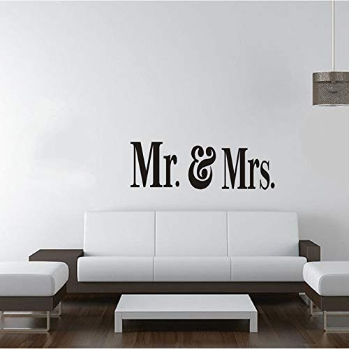 Pvc Mr y Mrs Love Letter patrón etiqueta de la pared para la ...