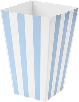 VAINECHAY 12PCS Cajas de palomitas Carton Maíz Caja Papel Pequeña Dulces Papas Fritas Fiesta Cumpleaños para Niños Caja Regalo Comida Bocadillos Titulares Contenedor Onda Dorada Azul: Amazon.es: Juguetes y juegos