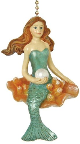 Coastal Mermaid Siren of the Sea Ceiling Fan Light Pull (Fish Ceiling Fan Pull)