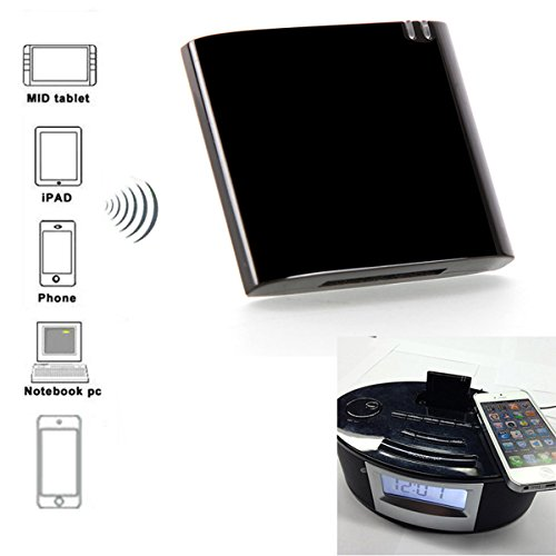 Wireless Stereo Bluetooth Audio Music Receiver Adapter for iPhone iPad iPod and 30Pin Dock Speaker by IDS Home