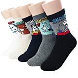 The Peanuts Snoopy Women and teen girls Licensed Socks Collection Socksense (Snoopy Movie_5pairs)