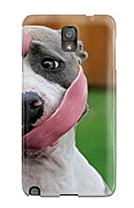 RoiTUcG5526OpkZG Hxy Dog With Long Tongue Durable Galaxy Note 3 Tpu Flexible Soft Case