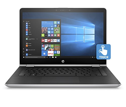 HP Pavilion x360 14-inch Convertible Laptop, Intel Core i5-8250U Processor, 8 GB RAM, 256 GB Solid-State Drive, Windows 10 Home (14-ba110nr, Silver)