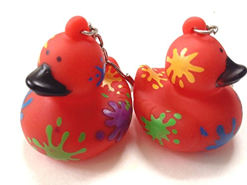 limited-edition-american-heart-association-splatter-quacky-rubber-duck-key-chain-ringsset-of-2