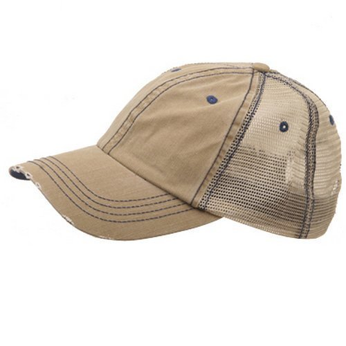 Man Ball Cap (MG Low Profile Special Cotton Mesh Cap-Khaki)