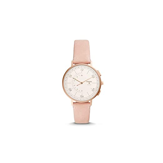 Reloj Inteligente híbrido Fossil Q Harper Blush de Cuero para Mujer (FTW5029)