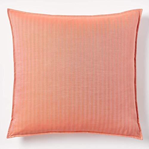 (Robert Graham Home Herringbone Persimmon Italian Percale Woven with Extra-Fine Long Staple Euro Cotton Pillow Sham (Euro))
