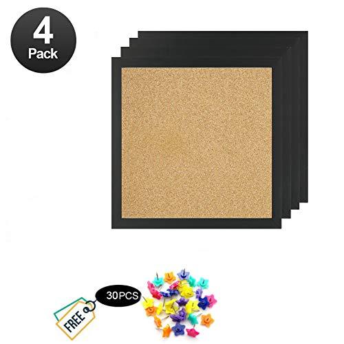 Bulletin Boards, Mini Wall Modular Elegant Boards 4 Pack Cork Bulletin Board Cork Board 12
