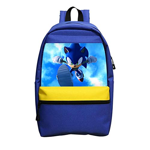 Kgtbvkg Kids School Backpacks Son-ic Hedge-hog Game Casual Printed Bookbag Hipster Satchel for Boys Girls (Sonic The Hedgehog Evolution Of A Hero)