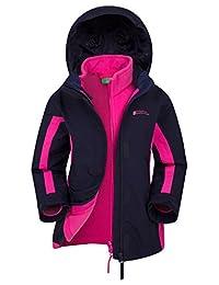 Mountain Warehouse Lightning 3 in 1 Kids Jacket - Winter Rain Jacket