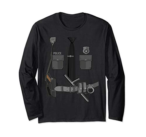 Funny Police Officer Halloween Cop Costume Police Shirt Gift Long Sleeve T-Shirt