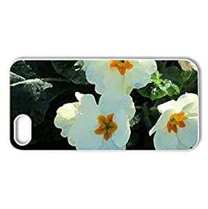 Primrose - Case Cover for iPhone 5 and 5S (Flowers Series, Watercolor style, White)