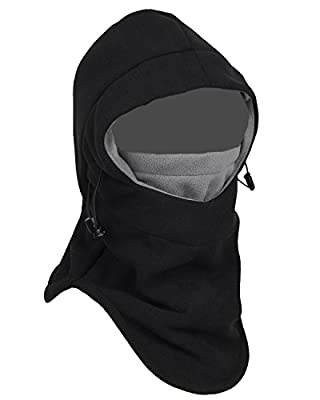 Tahbilk Balaclava Fleece Hood,Heavyweight Cold Weather Winter Motorcycle,Windproof Ski Mask,Ski&Snowboard Gear