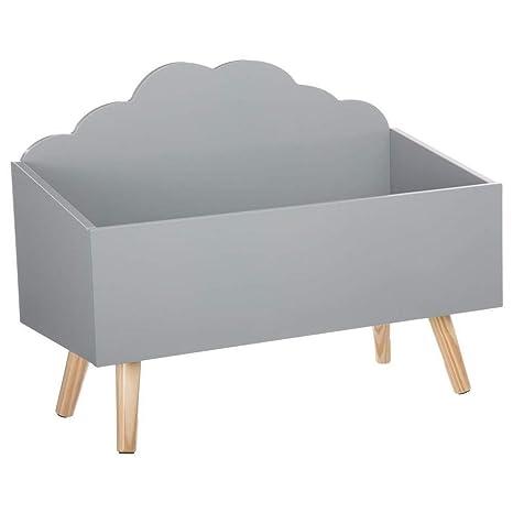 Baúl de juguetes Mueble de almacenamiento - Forma Nube - Color GRIS