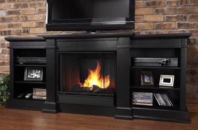 Buy Real Flame - Fresno 72 inch Entertainment Console with Gel Fuel Fireplace - G1200 - B: Gel & Ethanol Fireplaces - Amazon.com ? FREE DELIVERY possible on eligible purchases