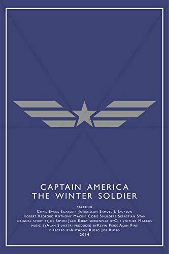 Postere Captain America: The Winter Soldier Minimalistic Premium