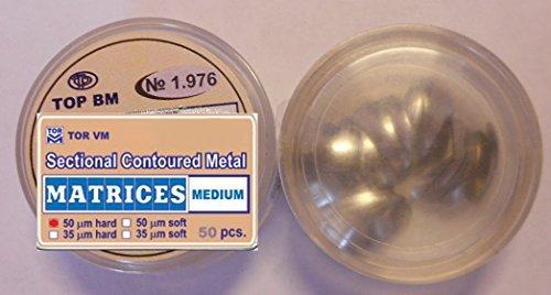 Dental Medium Sectional Contoured Matrices Matrix TOR VM (50 pcs)