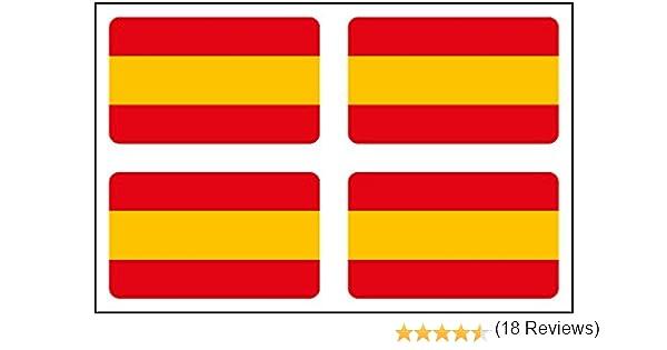 Artimagen Pegatina Bandera Rectángulo 4 uds. España 30x18 mm/ud ...