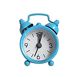 Giulot Alarm Clock for Heavy Sleepers 4 Twin Bell Vintage Alarm Clock with Backlight, Silent Sweep Seconds Desk Clock for Bedroom, Battery Operated Loud Alarm Clock