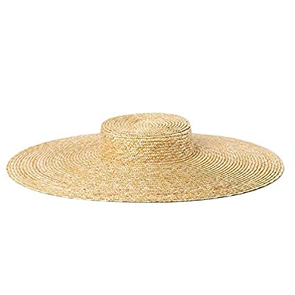Amazon.com   ALWLj Wide Brim Hat Women Summer Vintage Straw Boater ... 9ab980fb54f