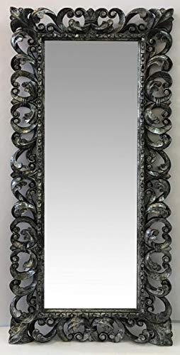 Specchio in stile Barocco a figura intera,cornice intagliata colore ...