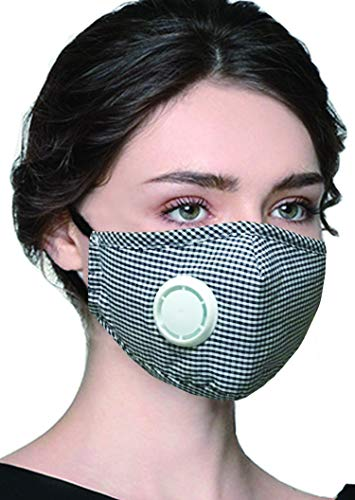 PM 2.5 Anti Pollution Mask Military Grade N99 Washable Dust Respirator Cotton Mouth Masks with Replaceable Filter for Adult Children(Mask + -