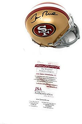 Jerry Rice San Francisco 49ers Signed Autograph Full Size Helmet HOF 2010 Inscribed Steiner Sports Certified