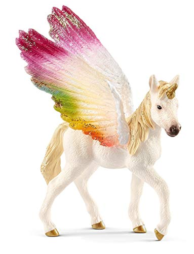 Schleich Winged Rainbow Unicorn Foal Toy, Large