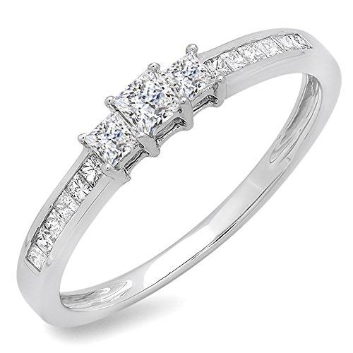 0.45 Ct Princess Diamond - 2